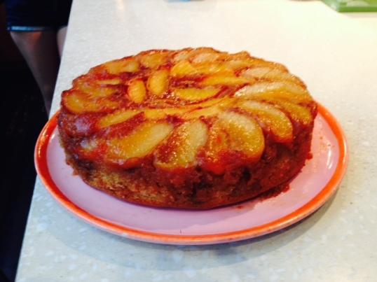 Peach Tatin Cake
